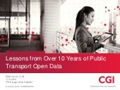 Lessons from over 10 years of public transport open data