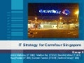 IT Strategy for the retail domain