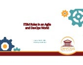 ITSM Roles in an Agile and DevOps World, an ITSM Academy Webinar
