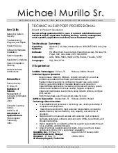 resume desktop support engineer - It Support Resume