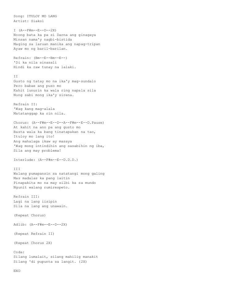 music_note Chords for Siakol - Asahan Mo (Lyric Video)