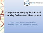 Competences Mapping for Personal Learning Environment Management