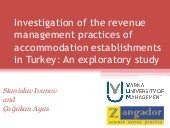 Investigation of the revenue management practices of accommodation establishments in Turkey: An exploratory study