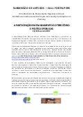 CALL FOR PAPERS «A PARTICIPAÇÃO EM PLANEAMENTO DO TERRITÓRIO  E POLÍTICAS PÚBLICAS»
