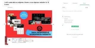 I will customize wordpress theme or wordpress website in 12 hours