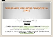 The Integrated Wellbeing Inventory (IWI) by Virginia M. Westerberg