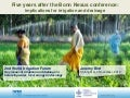 Five years after the Bonn Nexus conference: implications for irrigation and drainage