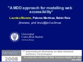 A MDD approach for modelling web accessibility
