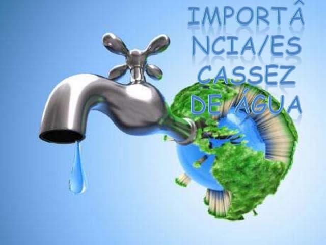 Importância/Escassez de água