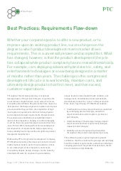 Best Practices: Requirements Flow-down