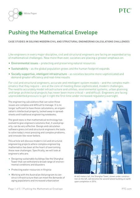 Pushing the Mathematical Envelope