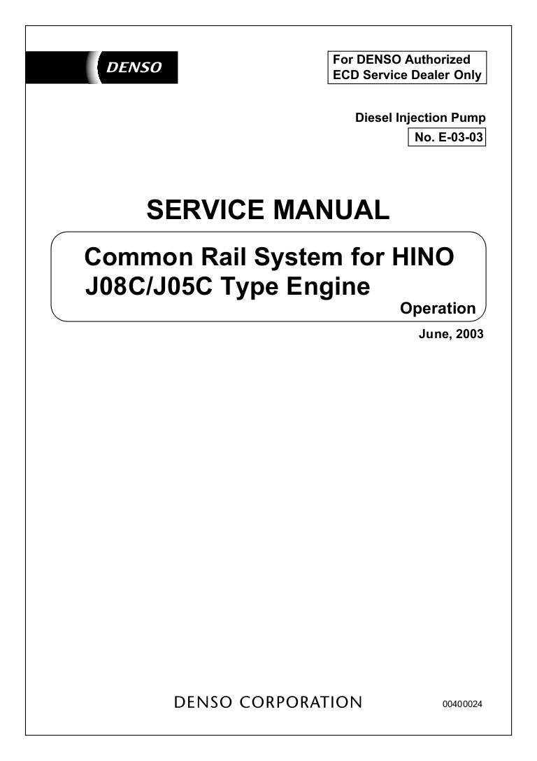 J08 D Common Rail Hino Ignition Wiring Diagram