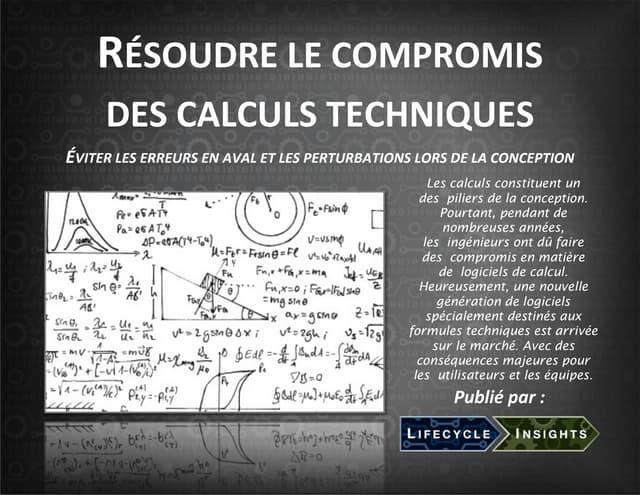 RÉSOUDRE LE COMPROMIS DES CALCULS TECHNIQUES ...