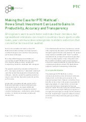 Making the Case for PTC Mathcad®: How a Small Investment Can Lead to Gains in Productivity, Accuracy and Transparency