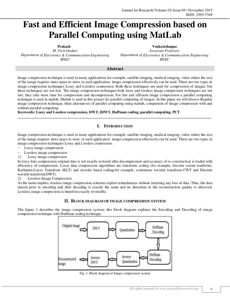 FAST AND EFFICIENT IMAGE COMPRESSION BASED ON PARALLEL COMPUTING USIN…