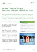 Securing the Internet of Things – Seven Steps to Minimize IoT Risk in the Cloud