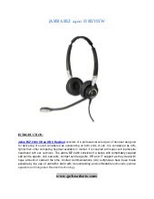 Jabra biz 2400 ii duo ultra noise cancelling headset review