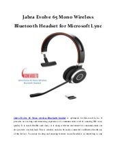 Jabra Evolve 65 Mono Wireless Bluetooth Headset for Microsoft lync
