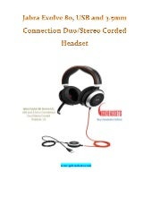 Jabra Evolve 80, USB and 3.5mm Connection Duo/Stereo Corded Headset