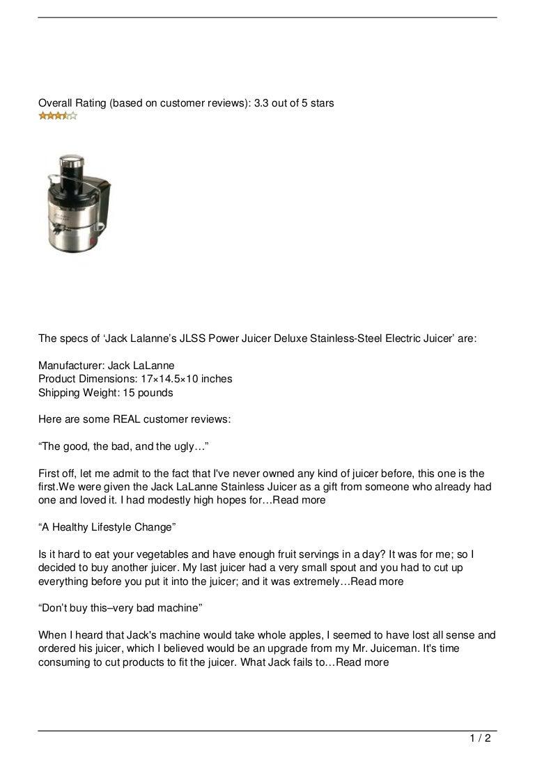 Jack Lalanne's JLSS Power Juicer