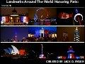 Jack D Ryger: World Landmarks Light Up To Honor Paris