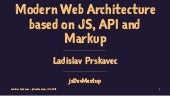 Modern Web Architecture<br>based on JS, API and Markup