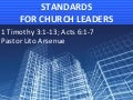 Standards for Church Leaders