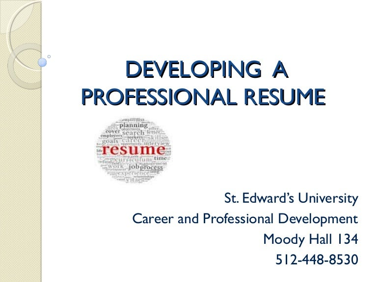 jan 23 revised ppt resume workshop