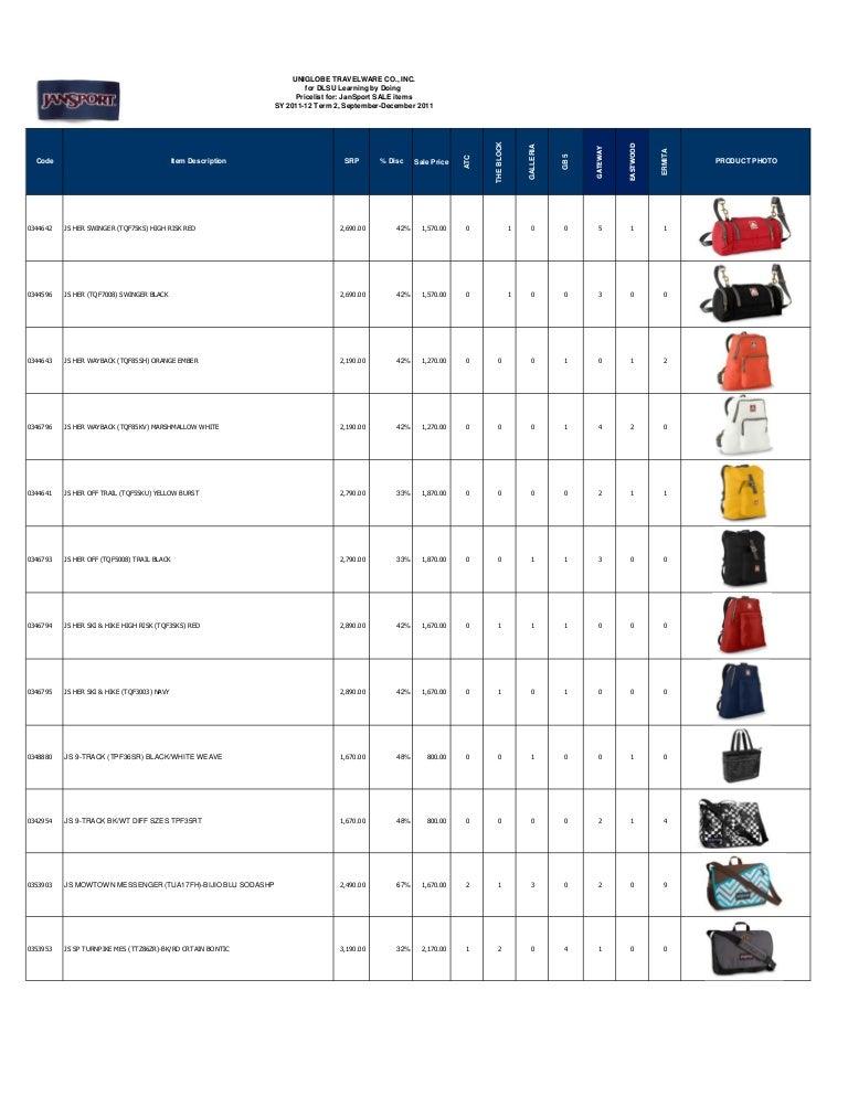 Jansport Backpacks Price List | Os Backpacks