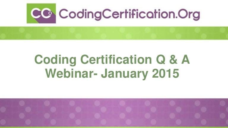 January 2015 medical coding qa webinar fandeluxe Images