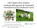 FAO's Regional Rice Initiative:  Landscape Management for Sustainable Intensification of Rice Production in Asia