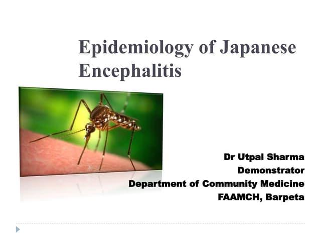 Japanese encephalitis epidemiology