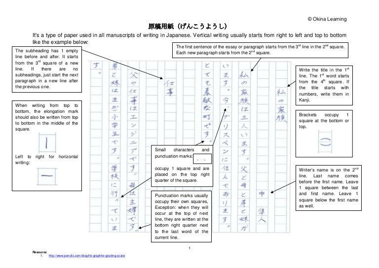 genkouyoushi paper  apmayssconstructionco japanese genkouyoushi and essay tips  genkouyoushi paper