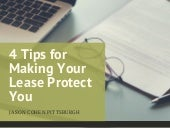 4 Tips for Making Your Lease Protect You
