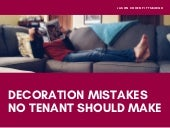 Decoration Mistakes No Tenant Should Make