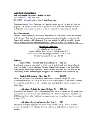 Eye Grabbing Chef Resume Samples Livecareer Head Chef Resume Samples