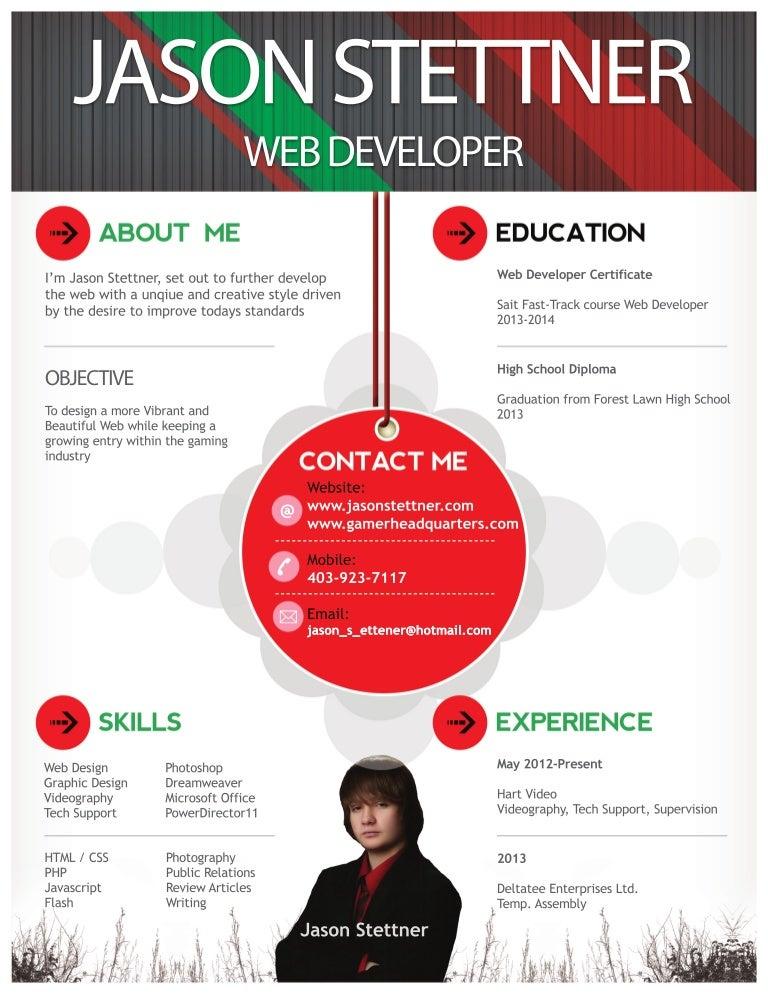 web developers resumes