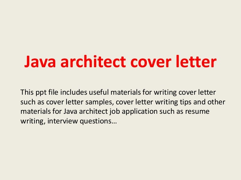 SlideShare  Architect Cover Letterhow To Write A Successful Cover Letter
