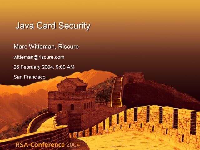 Java Card Security