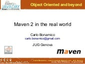 Maven 2 in the real world