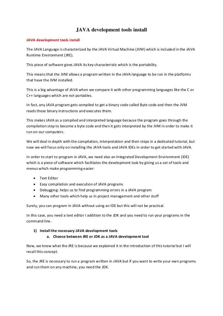 Java and eclipse development tools install pdf baditri Gallery