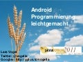 Android Introduction on Java Forum Stuttgart 11
