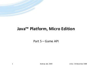 Java ME - 05 - Game API