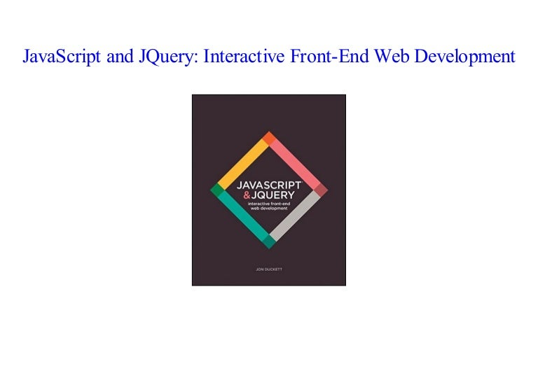 PDF] JavaScript and JQuery: Interactive Front-End Web Development by…