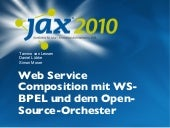 Web Service Composition mit WS-BPEL und dem Open-Source-Orchester