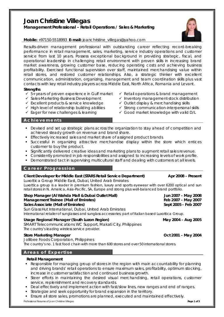 management trainee cv