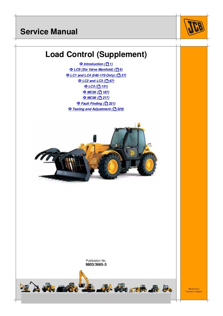 Jcb 520 40 load control (supplement) service repair manualSlideShare