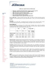 Jc decaux reports full year 2010 results