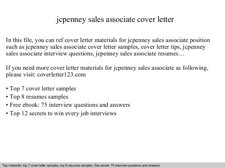 Jcpenney sales associate cover letter – Sales Associate Cover Letter Examples