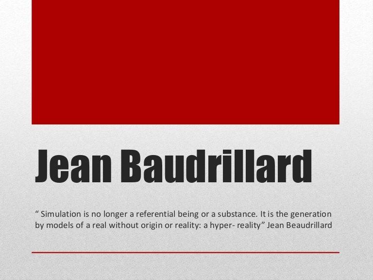 baudrillard simulacra and simulation pdf